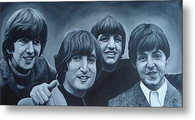 The Beatles Metal Print by David Dunne