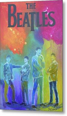 The Beatles Metal Print by Gino Savarino
