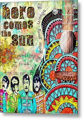 The Beatles Here Comes The Sun Metal Print