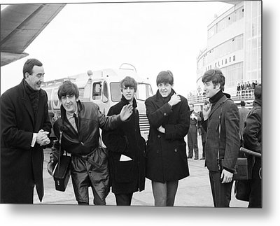 The Beatles In Dublin Metal Print by Irish Photo Archive