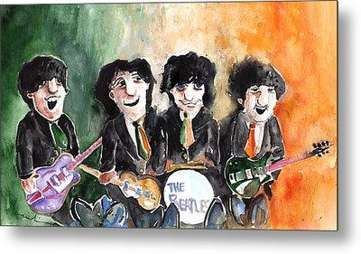 The Beatles In Ireland Metal Print by Miki De Goodaboom