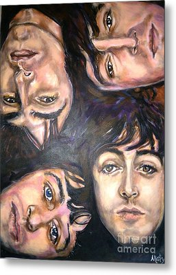 The Beatles Inspired Portrait Metal Print by Misty Smith