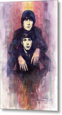The Beatles John Lennon And Paul Mccartney Metal Print