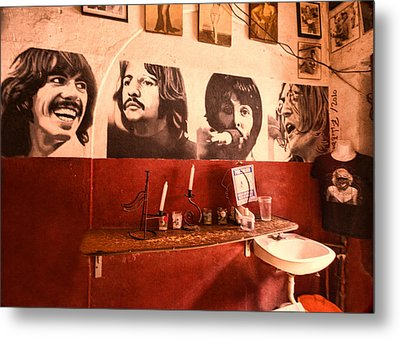 The Beatles Metal Print by Lindley Johnson