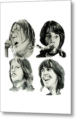 The Beatles Metal Print by Bekim Art
