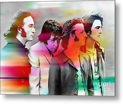 The Beatles Painting Metal Print by Marvin Blaine