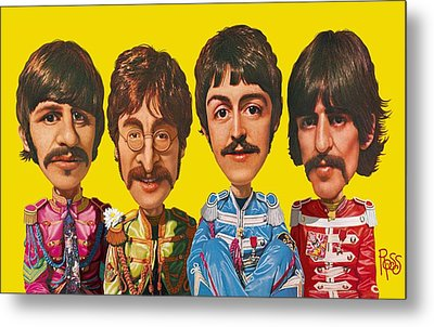 Metal Print featuring the digital art The Beatles by Scott Ross