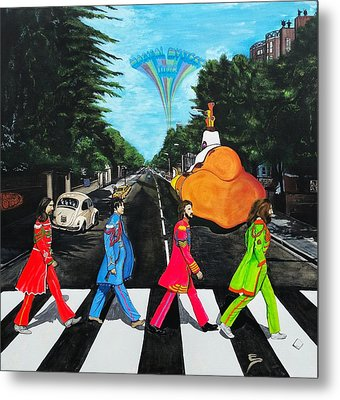 The Beatles Sgt Peppers Walk On Abby Road Metal Print