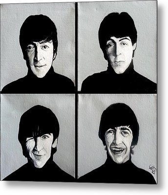 The Beatles Metal Print by Tom Carlton