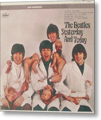The Beatles Yesterday And Today Butcher Album Cover Metal Print by Donna Wilson