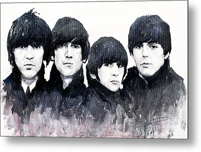 The Beatles Metal Print by Yuriy  Shevchuk