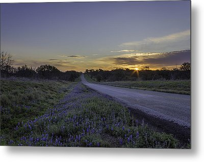 The Beautiful Road At Sunrise Metal Print by Jeffrey W Spencer