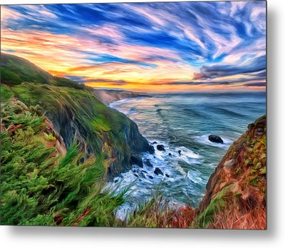 The Beauty Of Big Sur Metal Print by Michael Pickett