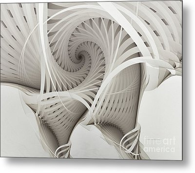 The Beauty Of Math-fractal Art Metal Print by Karin Kuhlmann