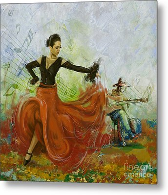 The Beauty Of Music And Dance Metal Print by Corporate Art Task Force