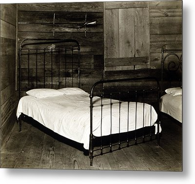 The Bedroom Of Floyd Burroughs, Cotton Metal Print by Everett