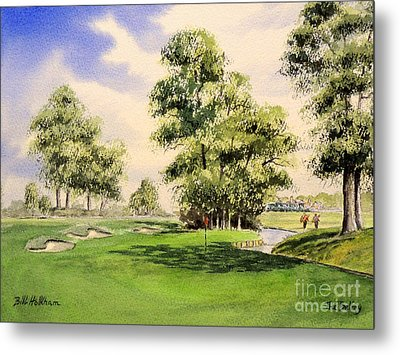 The Belfry Brabazon Golf Course 10th Hole Metal Print by Bill Holkham
