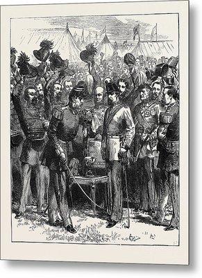 The Belgian Gardes Civiques At The Wimbledon Camp The Vin Metal Print