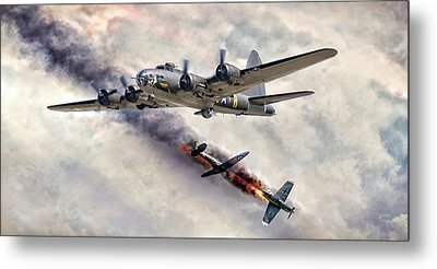 The Belle In Action Metal Print by Peter Chilelli