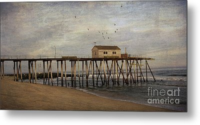 Metal Print featuring the photograph The Belmar Fishing Club Pier by Debra Fedchin