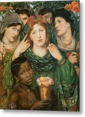 The Beloved-the Bride Metal Print by Dante Gabriel Rossetti