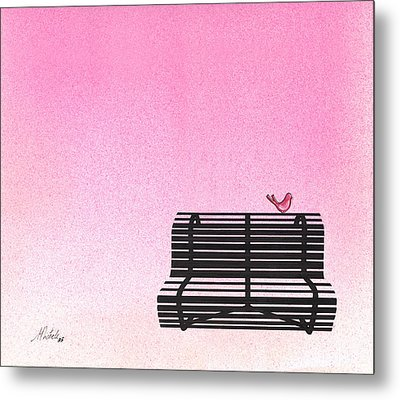 The Bench Metal Print by Daniele Zambardi