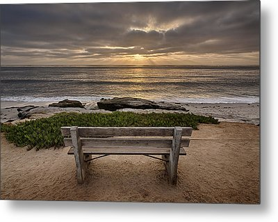 The Bench IIi Metal Print by Peter Tellone