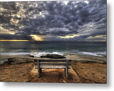 The Bench Metal Print by Peter Tellone