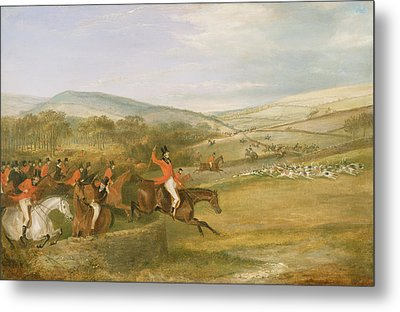 The Berkeley Hunt, Full Cry, 1842 Metal Print by Francis Calcraft Turner
