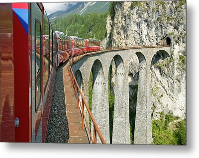 The Bernina Glacier Express Metal Print by Ashley Cooper