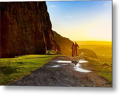The Best Is Yet To Be - Edinburgh Metal Print by Mark E Tisdale