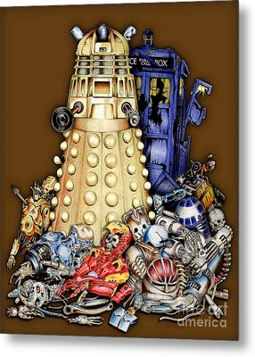 The Best Robot In The Universe Metal Print by Three Second