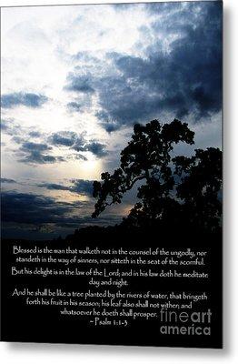The Bible Psalm 1 Metal Print
