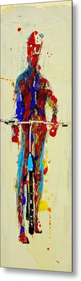 The Bicyclist Metal Print by Jean Cormier