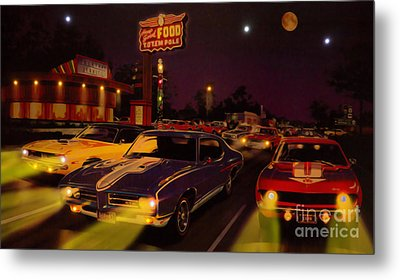 The Big 3 Street Racing Metal Print