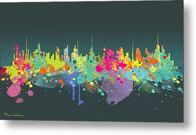 The Big City  Metal Print by Mark Ashkenazi