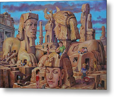 The Big Sand Box Metal Print