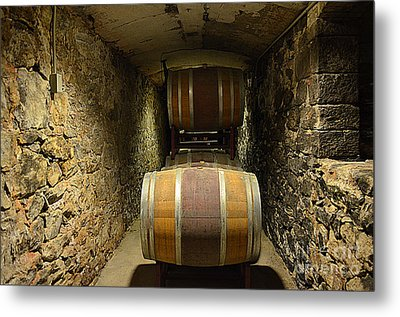 The Biltmore Estate Wine Barrels Metal Print by Luther Fine Art
