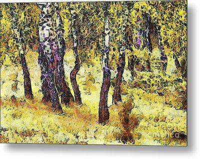 The Birch Forest Metal Print by Odon Czintos