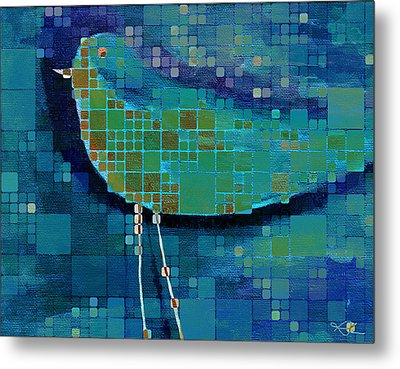 The Bird - Mdsa03bll Metal Print by Variance Collections