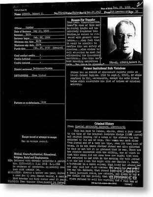 The Birdman Of Alcatraz 20130320 - Black Metal Print