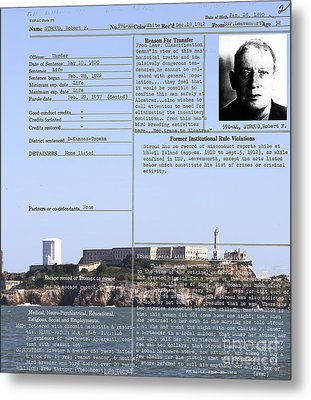 The Birdman Of Alcatraz San Francisco 20130323v2 Metal Print by Wingsdomain Art and Photography