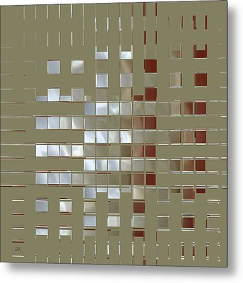 The Birth Of Squares No 1 Metal Print by Ben and Raisa Gertsberg