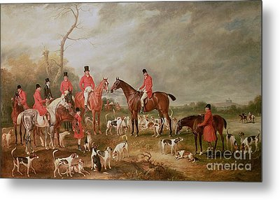 The Birton Hunt Metal Print by John E Ferneley