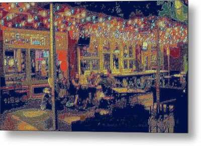 The Bistro Patio Metal Print by ARTography by Pamela Smale Williams