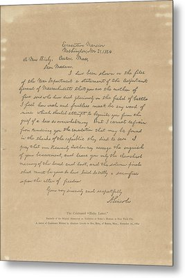 The Bixby Letter Metal Print
