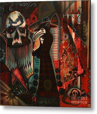 The Black Death Metal Print by Michael Kulick