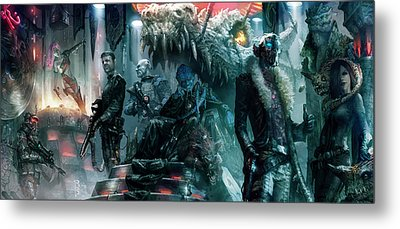 The Black Hole Gang Metal Print by Ryan Barger