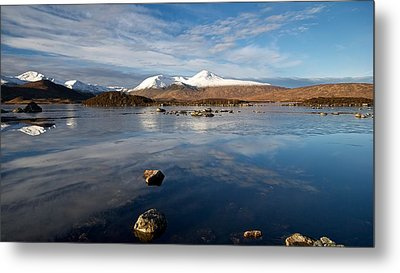 Metal Print featuring the photograph The Black Mount by Stephen Taylor