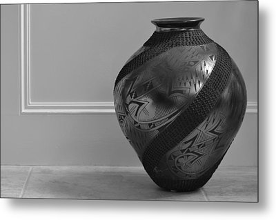 Metal Print featuring the photograph The Black Pot by Nadalyn Larsen